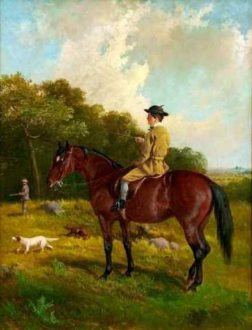 Young Man on a Bay Horse