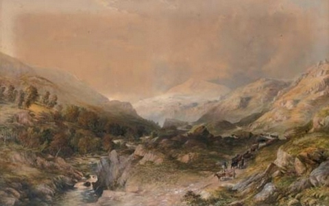 Welsh Mountain Scene