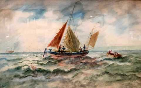 Fishing Boats off the Essex Coast