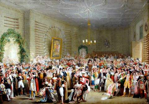 Fancy Dress Ball in The Mansion House, Coronation of William IV